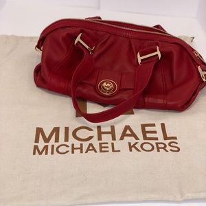 Red Michael Kors Leather Shoulder Bag